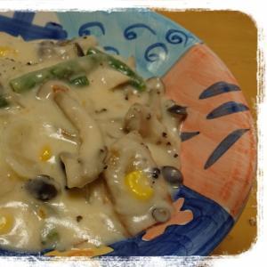 市販のシチューのルゥで鮭のクリーム煮