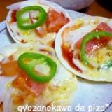 餃子の皮 de ピザ*