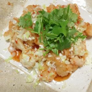 ホロっと食べやすい☆白身魚のチリソース