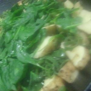 小松菜と長芋のさっと煮