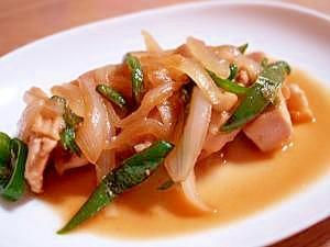 新タマネギがおいしい♪鶏胸肉でテリヤキ風チキン