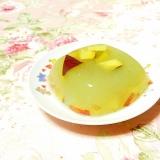 ❤青汁と薩摩芋と林檎の寒天❤