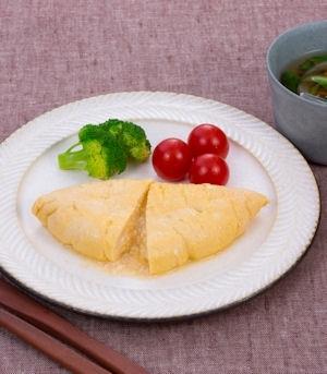 豆腐とたらこのオムレツ