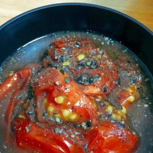 レンジで簡単☆ごまトマト