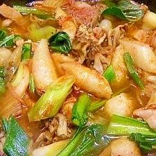 ゴマ油で炒めたキムチがポイント☆一年中きりたんぽ鍋