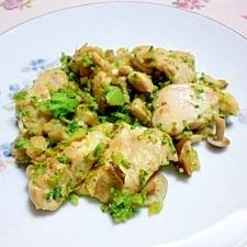 鶏むね肉のブロッコリー味噌炒め