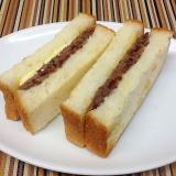 あんバターサンドイッチ(粒あんの作り方)