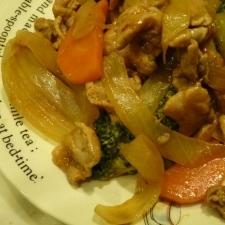 酢豚風豚肉と野菜炒め