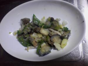 お弁当の副菜に 夏野菜ねぎ塩いため