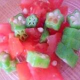 オクラとトマトの健康サラダ