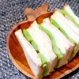 ハムとささげのサンドイッチ