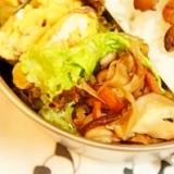 弁当救世主伝説185、秋の根菜と椎茸のきんぴら
