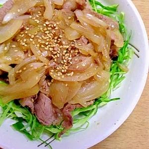 玉ねぎで増量☆豚の生姜焼き