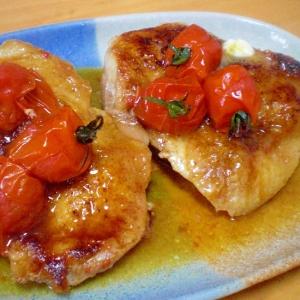 「チキンとミニトマトのオイスター焼き」    ♪♪