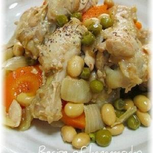 大豆と鶏手羽元のさっぱり煮