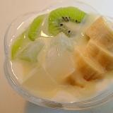 ❤キウイとバナナとナタデココの練乳檸檬ヨーグルト❤