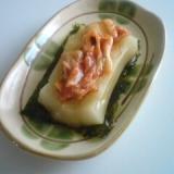 キムチと韓国のりの醤油餅