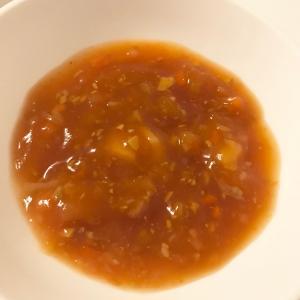 【離乳食】大豆と鶏むね肉のトマト煮