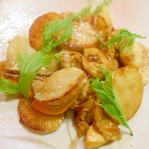 長芋とホタテのバタポンソテー