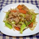 中華屋さんの味?!野菜たっぷり肉野菜炒め!