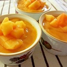 柿とヨーグルトでとろぷるゼリー
