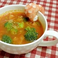 野菜たっぷりのトマトスープ