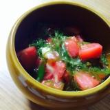 簡単副菜☆メカブトマト