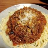 野菜たっぷり 我が家のミートソーススパゲッティ