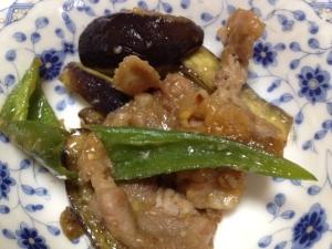 豚肉とピーマン・ナスの味噌炒め