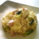 木綿豆腐入りのマヨチャーハン