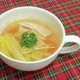 白菜とニンジンのコンソメスープ