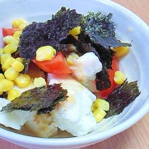 簡単!子供のお手伝い トマトとはんぺんの海苔サラダ