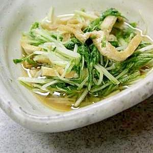 電子レンジで簡単『水菜の煮びたし』