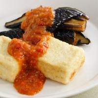 揚げ豆腐と揚げなすのキムチ風味
