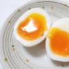 一度に沢山  半熟ゆで卵を作る