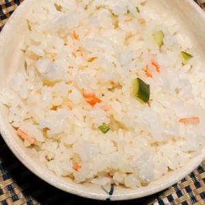 カニカマとズッキーニで簡単炊飯器ピラフ