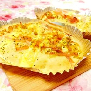 HMde❤炒め玉葱とハムのペッパーカレー大蒜パン❤
