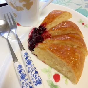 牛乳、卵不要!炊飯器でモチモチ☆柚子の焼き菓子