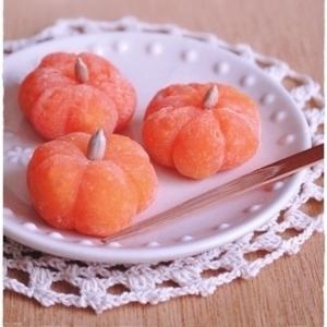 ハロウィンに♪かぼちゃ大福