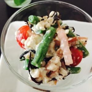 栄養満点〜豆腐とひじきのサラダ