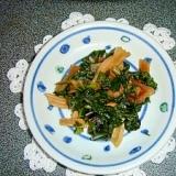 ふきの葉の炒め煮