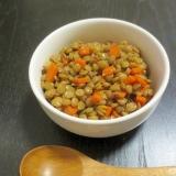 レンズ豆のカレーガーリック煮