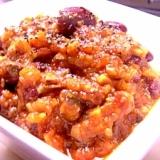 牛肉といんげん豆のトマト煮