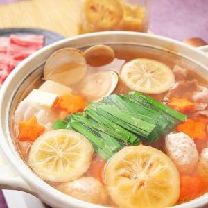 塩レモンと生姜でポカポカ鶏だんご鍋