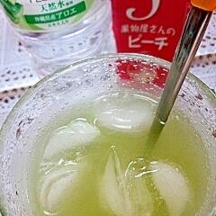 【キレイ応援朝食】アロエピーチグリーンティー♪