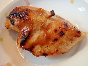 グリルで丸ごと 大蒜香る鶏ムネ肉焼き♪
