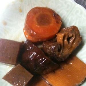 豚の角煮の煮汁で野菜煮込み