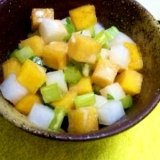 柿と大根のコロコロサラダ