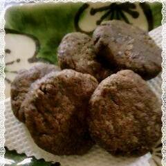 レンジでアボカドココアクッキー バター不使用