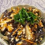 黒きくらげの炒り豆腐